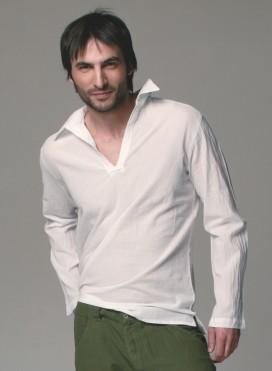 Blouse Collar Gauze Long Sleeves 100% Cotton