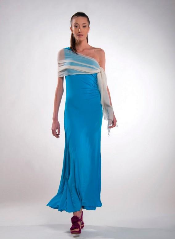 """Dress """"Electra"""" 1 Shoulder Maxi Ziro"""