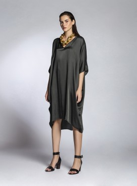 Dress V Neck Square Lexis