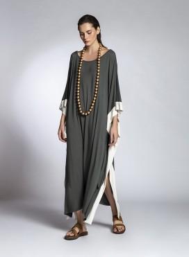 Dress Poncho Trim Viscose Jersey