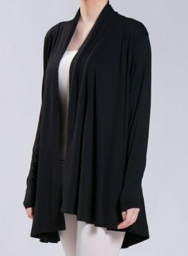 Jacket Collar Long Sleeve Elastic