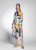 Dress Hide Buttons Silk/Visc Print