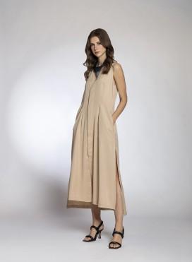 Φόρεμα Gilet Sleeveless 100% Tencel