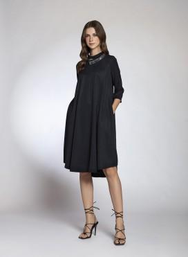 Φόρεμα Pray ¾ μανίκια Midi 100% Tencel