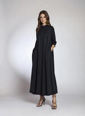 Φόρεμα Pray 3/4 Μανίκι Maxi100% Tencel