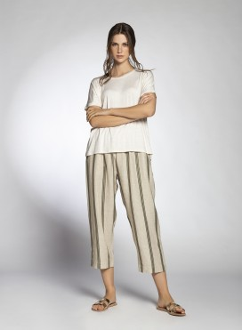 Pants Volume Cropped Pure/Stripes