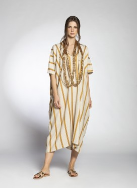 Dress Kaftan Trigono Pure/Stripes