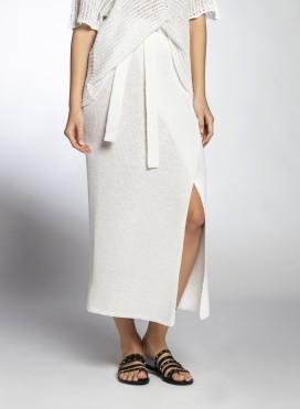 Skirt Wrap Maxi Viscose Knit