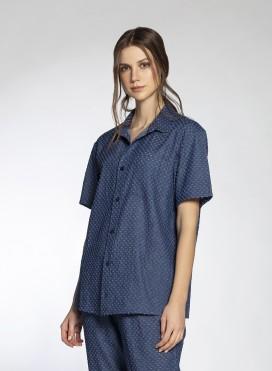 Shirt Basic Shortsleeves Denim/Perforer