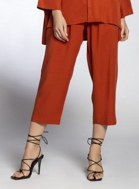 Pants Volume Cropped 100% Tencel