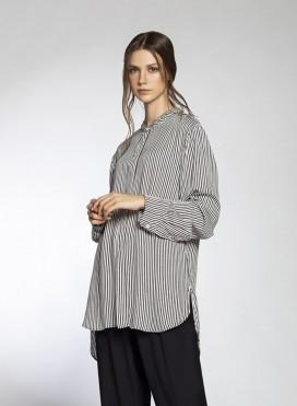 Shirt Mao Thin Stripes