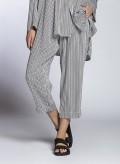 Pants Volume Cropped Thin Stripes