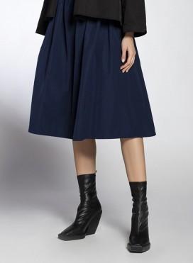 Skirt Cord Midi Trench