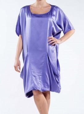 Dress 2 Pockets Satin Silk