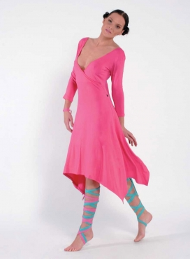 Dress V Krouaze Asymmetric Elastic