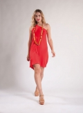 Dress 1 Shoulder Mini Elastic