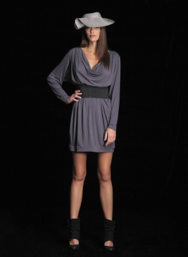 Dress Vanessa Drape Midi Ziro
