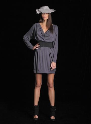Dress Vanessa Drape Midi Ziro
