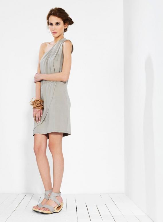 Φορεμα 1 Ώμος Πιέτες ελαστικό