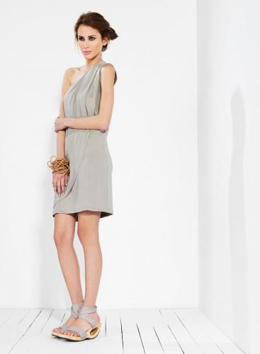 Dress 1 Shoulder Pietes elastic