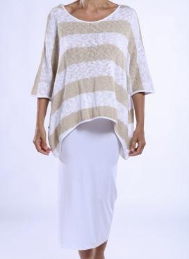Blouse Tetragoni Knitted Stripes