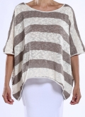 Blouse Tetragoni knitted stripes