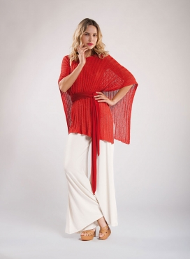 Top Poncho Knit