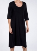Dress Kristin long 3/4 sleeves elastic