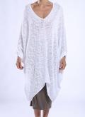 Μπλουζα V Huge Πλεχτο 85%Cotton-15%Acr