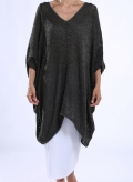 Blouse V Huge Knitted 85%Cotton-15%Acr