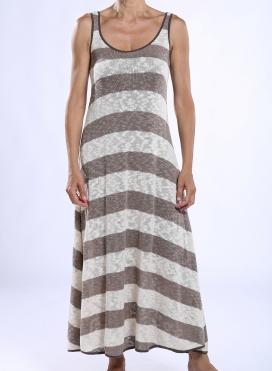 Φόρεμα Xenia Ριγε Πλεχτο 85%Cot-15%Acr