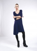 Dress Asymmetric 3/4 sleeves elastic