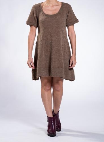 Dress Mini Short Sleeves Bouk 26%Pa 74%Pc