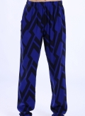 Pants Simple Big Black Print 100% viscoze