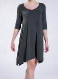 Φόρεμα Aria 3/4 μανίκια midi ελαστικό