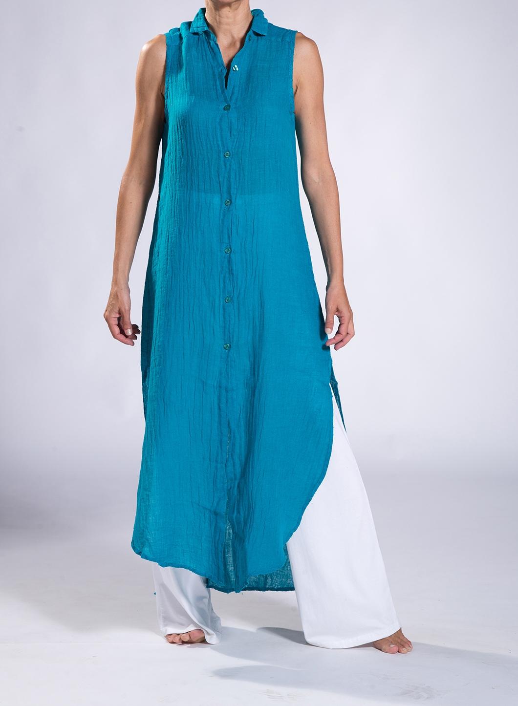 a3c709916349 Φόρεμα Σεμιζιέ Summer χωρίς μανίκι 100% λινή γάζα - JOIN CLOTHES