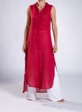 Dress Semizie Summer sleeveless 100% linen gauze