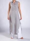 Φόρεμα Σεμιζιέ Summer χωρίς μανίκι 100% λινή γάζα