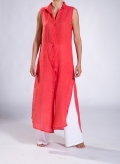Dress Semizie Summer sleeveless 100% linen gauze