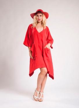 Φόρεμα Fold Pocket 100% λινό