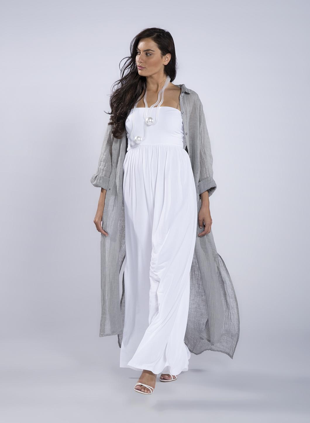 f2232eb4eefa Φόρεμα Σεμιζιέ Summer μακρύ μανίκι 100%