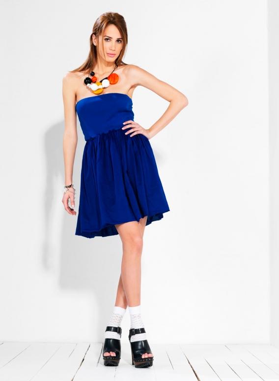 Φόρεμα Στράπλες Ballon voile 100% βαμβακερό