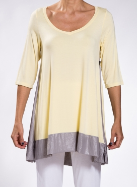 Blouse Asymmetric 3/4 sleeve double