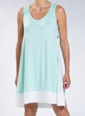 Φόρεμα Asymmetric χωρίς μανίκι midi double