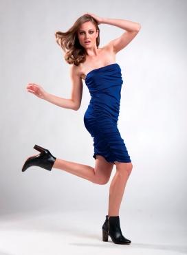 Dress Drape Strapless Flash