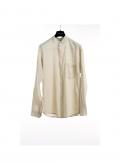 Shirt Mao Collar Gauze Long Sleeve 100% Cotton