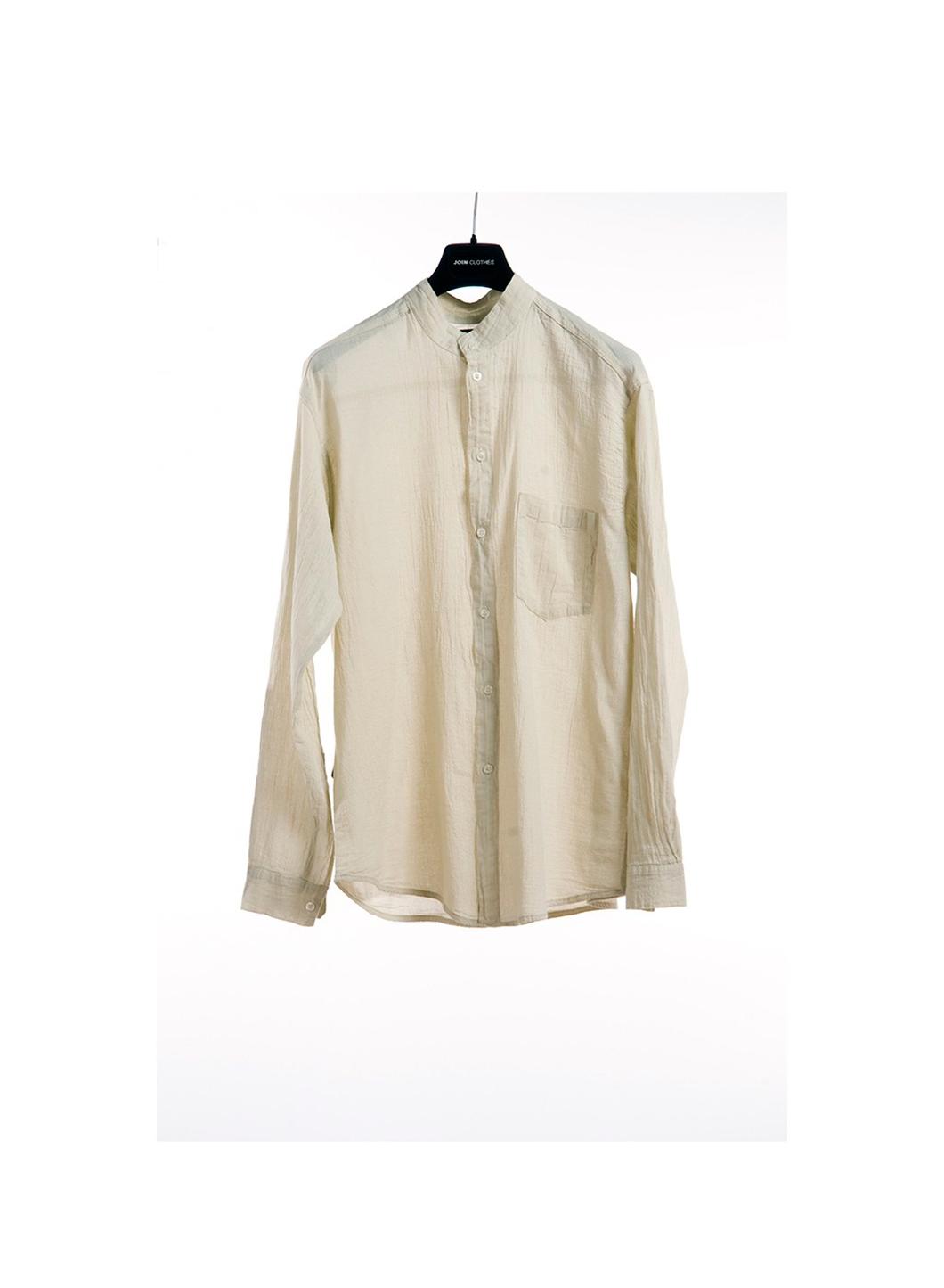 Shirt mao collar gauze long sleeve 100 cotton for Long sleeve 100 cotton shirts
