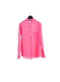 Shirt Mao Collar Gauze long sleeve 100% cotton
