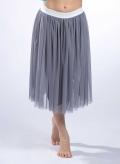 Skirt Gather tulle midi