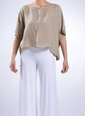 Blouse Hyper Short 100% Linen
